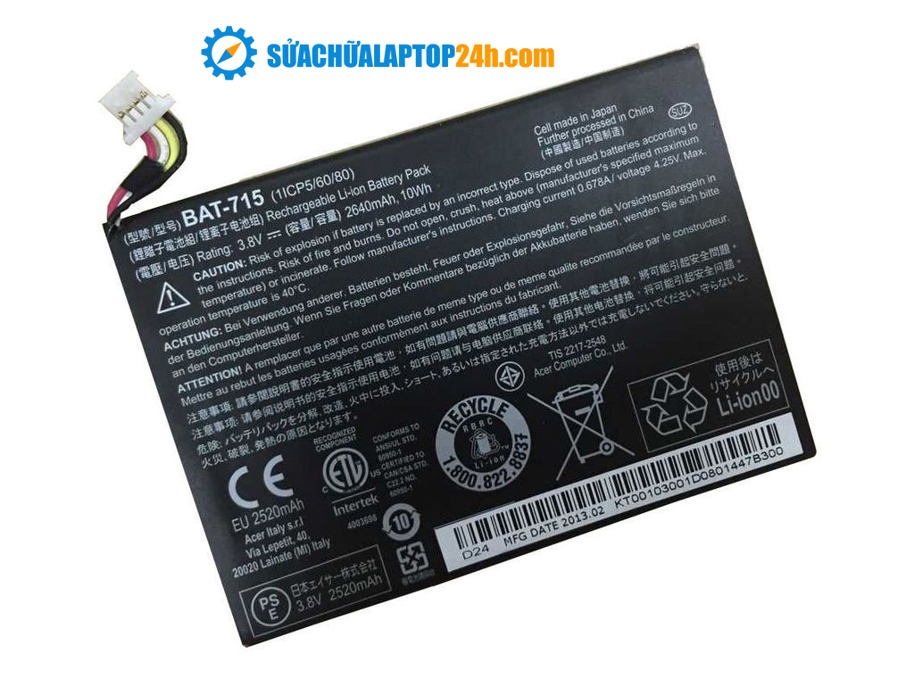 Battery Acer 715 / Pin Acer 715