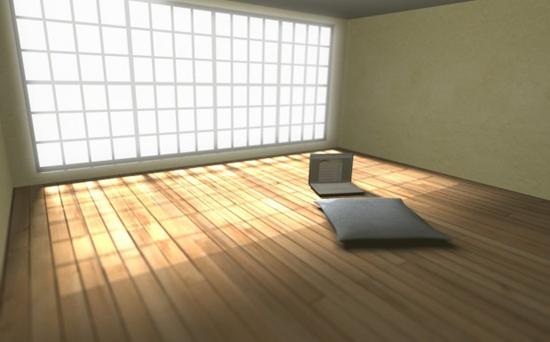 tối giản căn phòng.