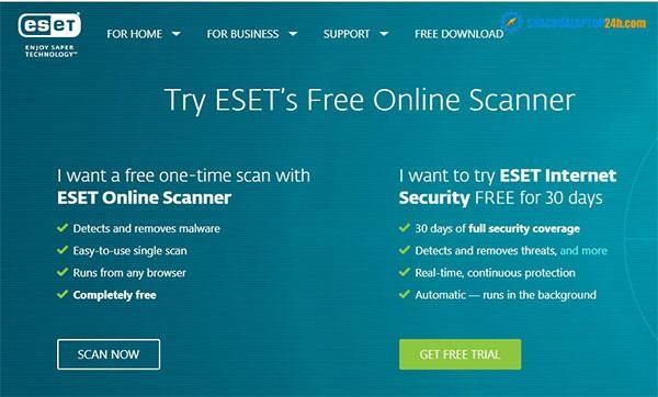Phần mềm ESET Online Scanner - công cụ quét virus trực tuyến đơn