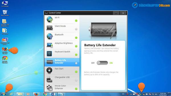 Gần đây, vấn đề lỗi pin laptop Samsung chỉ sạc 80% đã xảy ra với một số người sử dụng laptop của hãng này. Nếu bạn đang là một trong những trường hợp mỗi khi cắm sạc laptop, chiếc máy tính Samsung của bạn chỉ đạt đến lượng pin 80% rồi không tiếp tục sạc nữa. Thì đừng vội lo lắng, vì có thể đây chỉ là sự cố cài đặt của máy. Bạn hoàn toàn có thể tự điều chỉnh lỗi này. Trong bài viết này, SUACHUALAPTOP24h.com sẽ giúp các bạn khắc phục lỗi pin laptop Samsung chỉ sạc 80%.